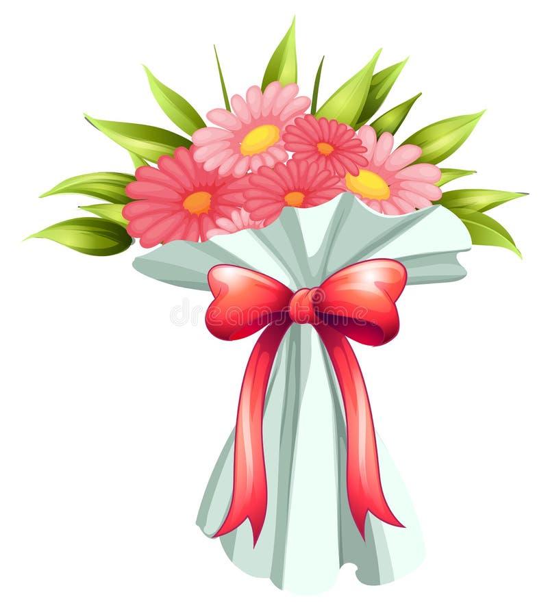 Een boquet van roze bloemen vector illustratie