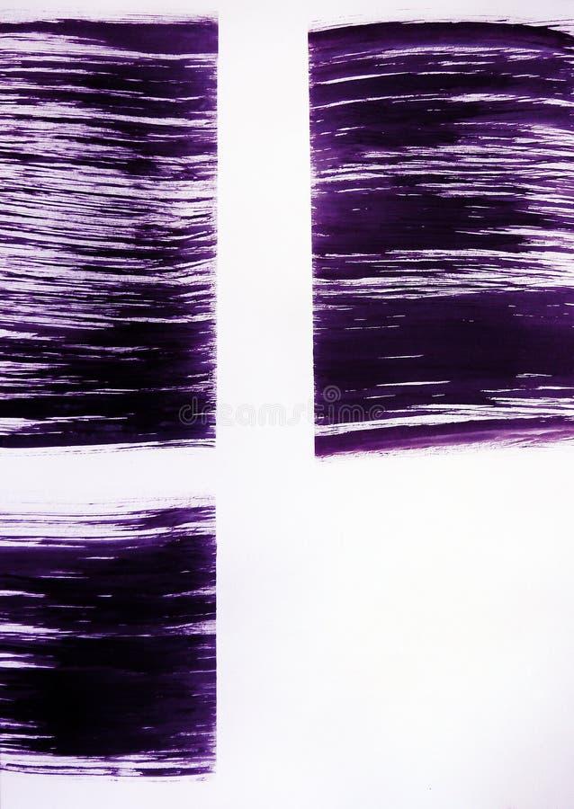 Een borstel trekt drie rechthoeken Overweldigende mening van het venster stock afbeelding