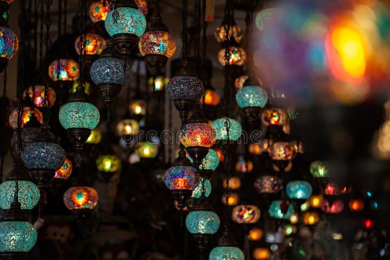 Een bos van Turkse lampen stock afbeeldingen