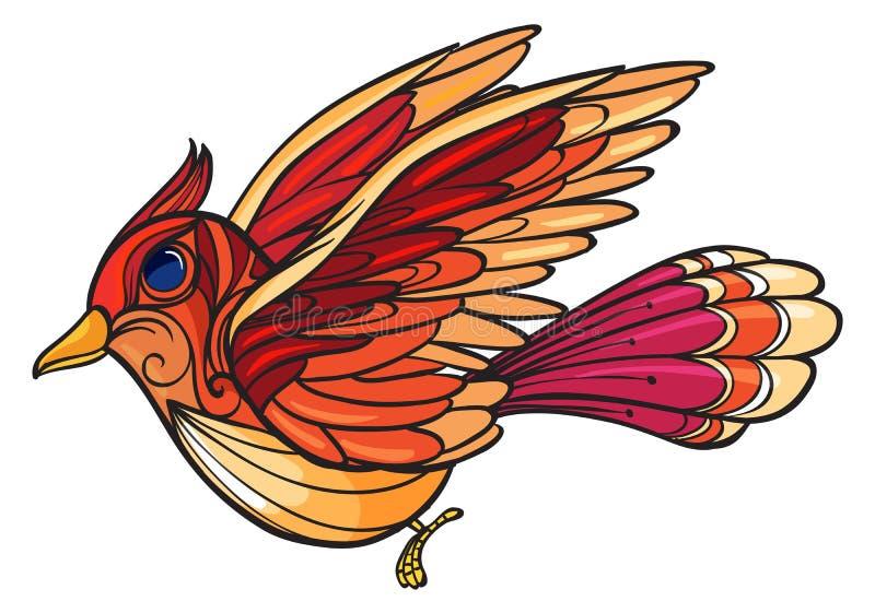 Een boze vogel stock illustratie