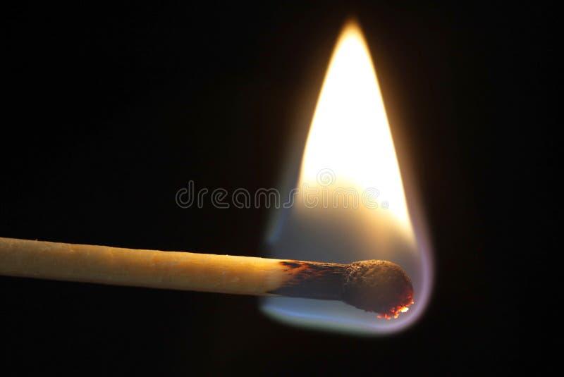 Een brandende Gelijke stock foto's