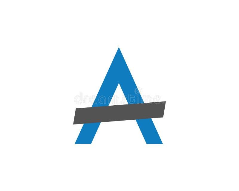 Een Brief Logo Template stock illustratie