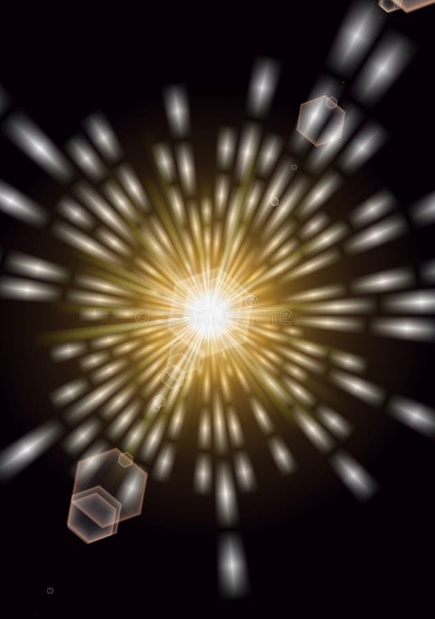 Een briljante uitbarsting van licht vector illustratie