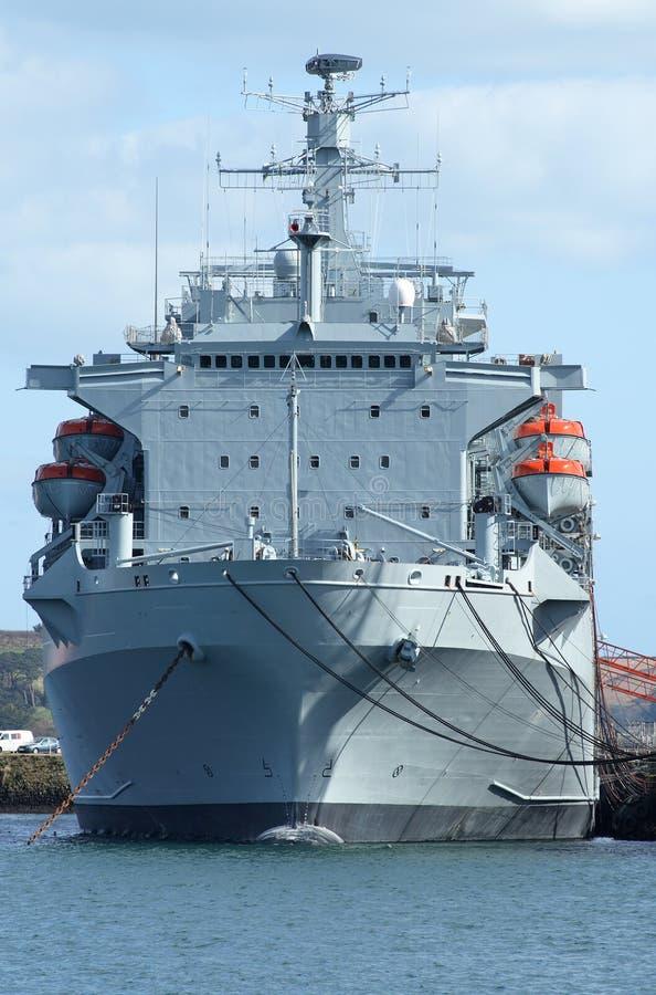 Een Brits schip van de Marine. stock afbeelding