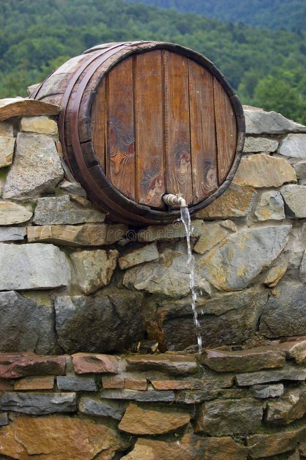 Een bron in de Karpaten royalty-vrije stock afbeeldingen