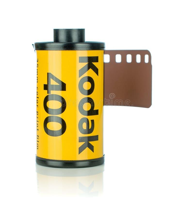 Een broodje van Kodak Ultramax 400 35mm camerafilm stock afbeeldingen