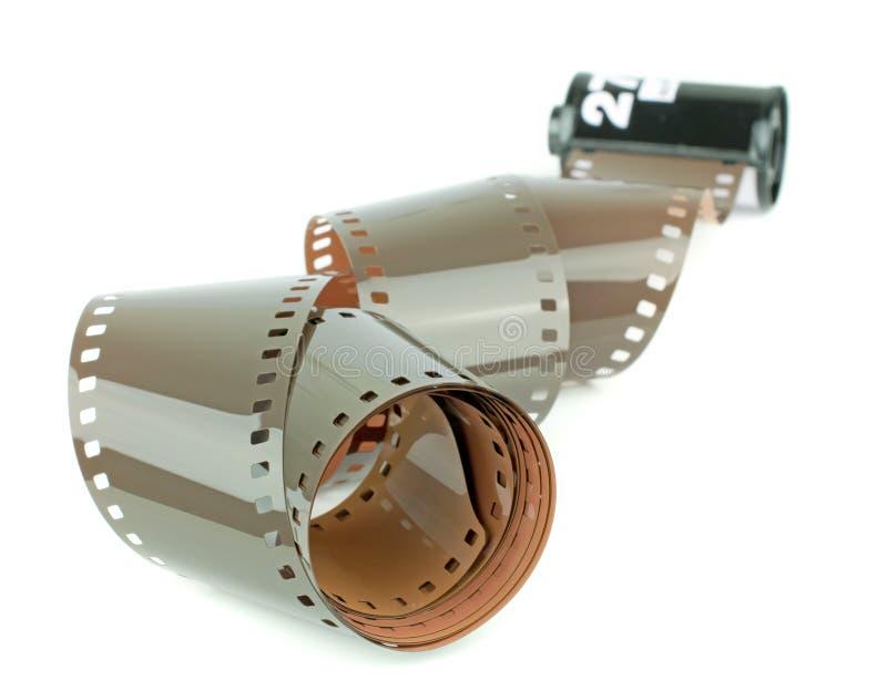 Een broodje van 35mm camerafilm royalty-vrije stock afbeelding