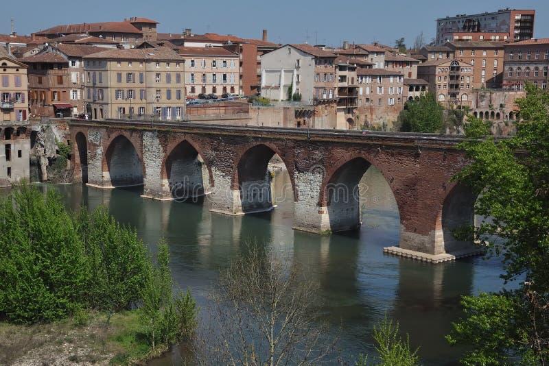 Een brug in albi (Frankrijk) stock foto's