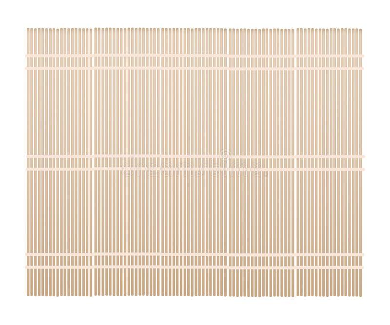 Een Bruine Bamboemat op Witte Achtergrond vector illustratie