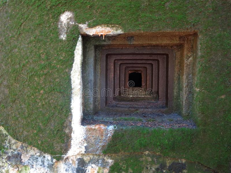 Een bunker in het hout royalty-vrije stock fotografie