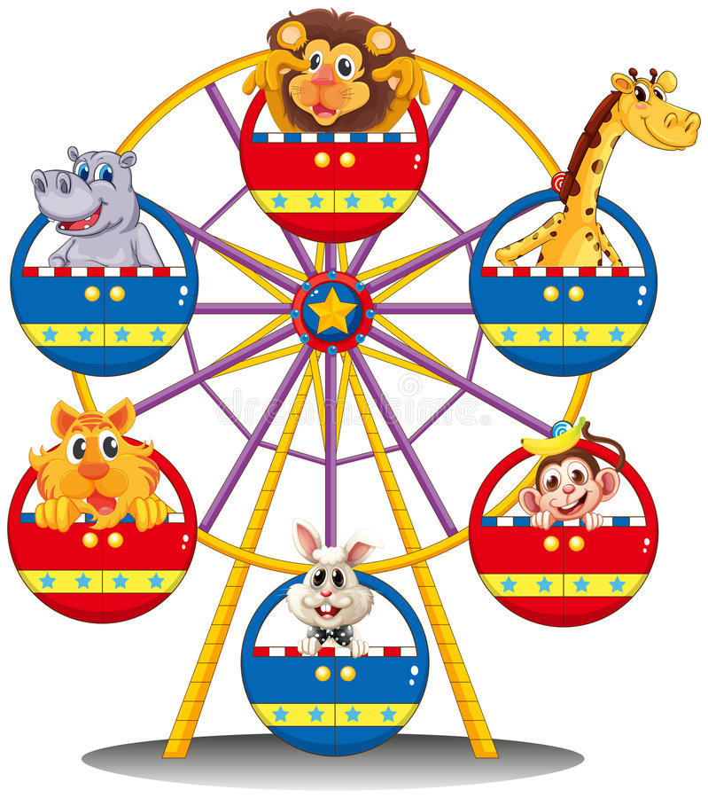 Een Carnaval-rit met dieren stock illustratie