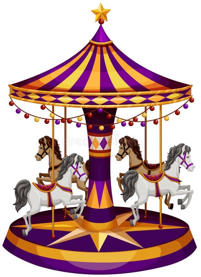 Een carrouselrit vector illustratie
