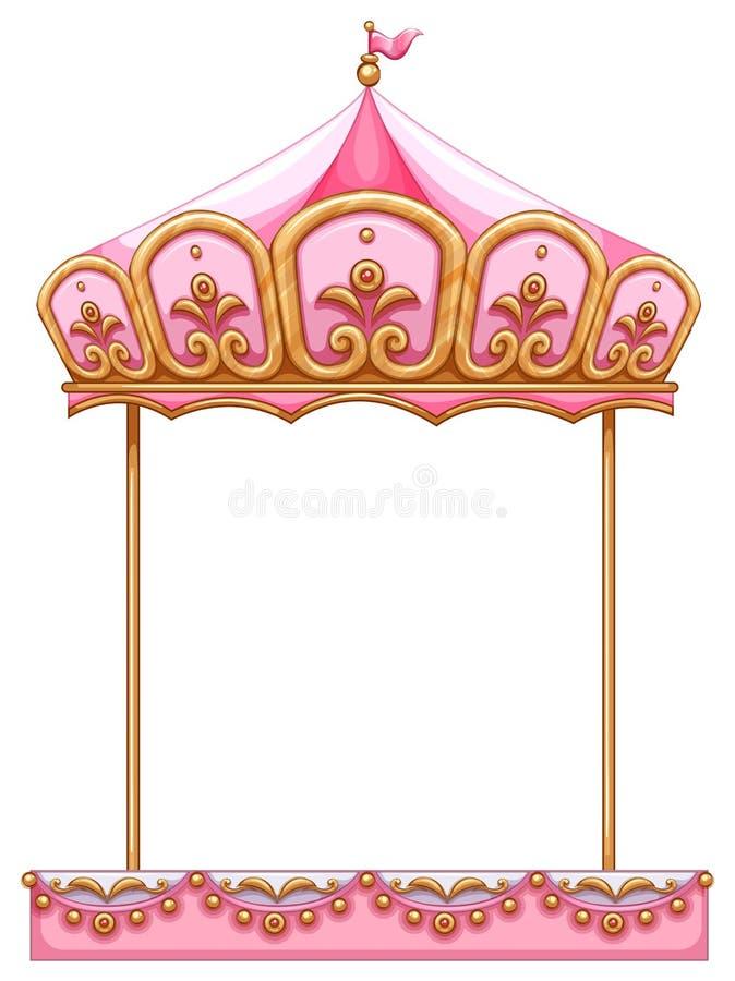 Een carrouselrit zonder een paard royalty-vrije illustratie