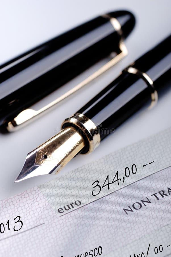 Een cheque stock foto