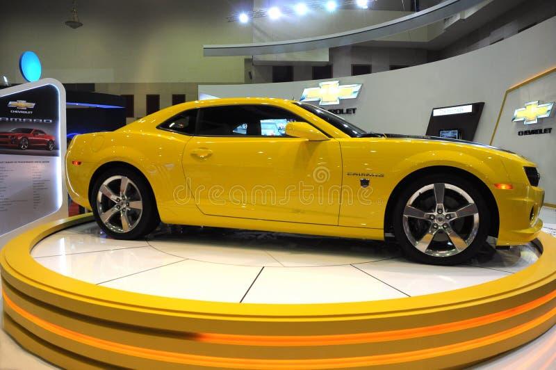 Een Chevrolet Camaro is op vertoning bij het Stuk van Kuala stock afbeeldingen