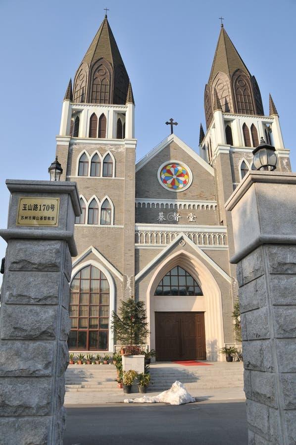 Een Chinese Christelijke Kerk stock afbeelding