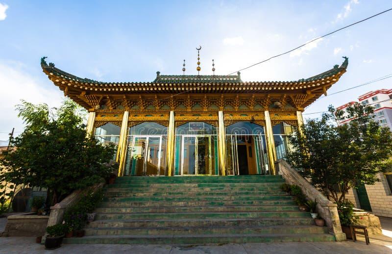 Een Chinese Moslimmoskee stock fotografie