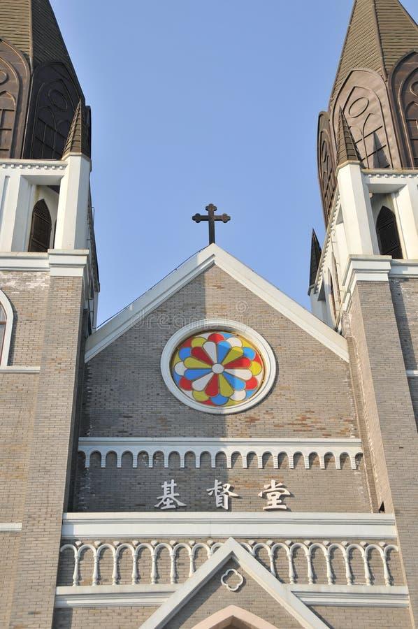 Een christelijke Kerk in China stock foto