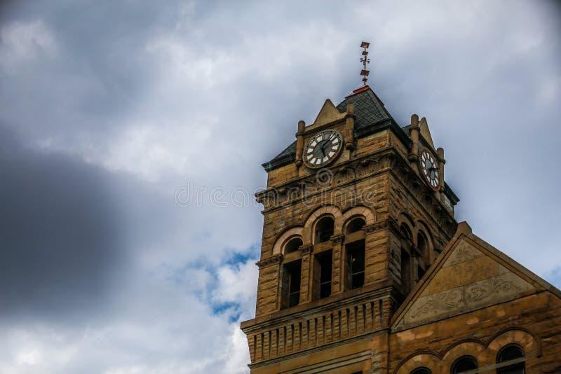 Een clocktower bouwde 1836 in stock foto's