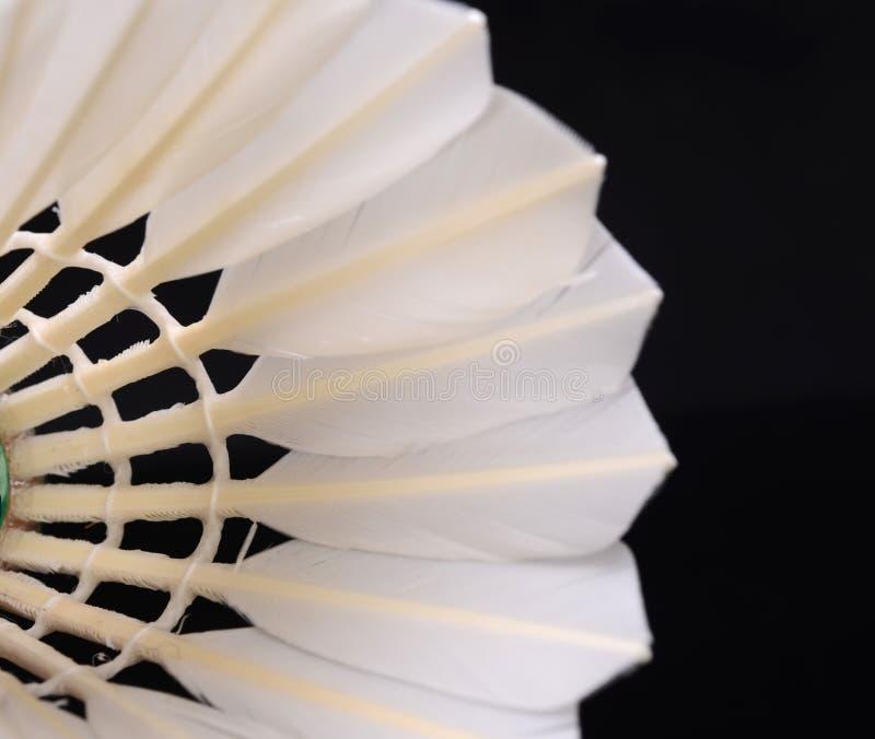 Een close-up van badminton stock foto