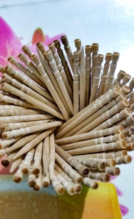Een close-up van de tandoogst in de kop stock fotografie