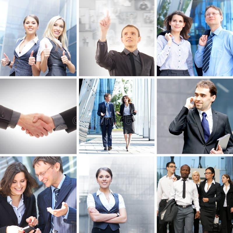 Een collage van bedrijfsmensen in formele kleding royalty-vrije stock afbeeldingen