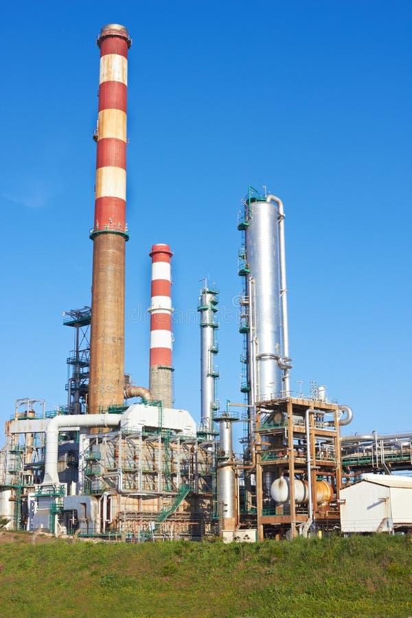 Een complexe deel van raffinaderij stock foto