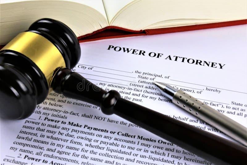 Een conceptenbeeld van een volmacht, zaken, advocaat stock fotografie