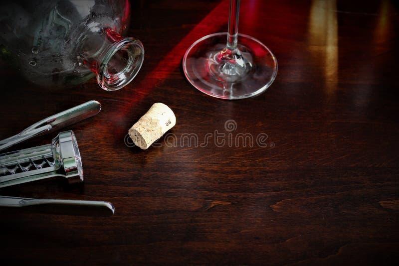 Een conceptenbeeld van een wijnglas, alcohol, wijn stock foto