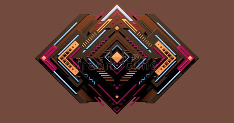 Een conceptueel kleurrijk behang van diamanten die een patroon maken vector illustratie