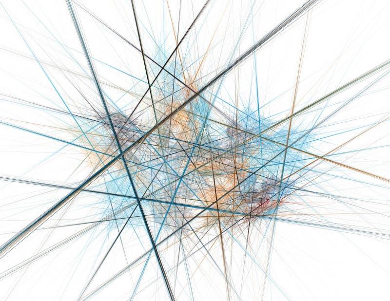 Een congestie van Lijnen royalty-vrije illustratie