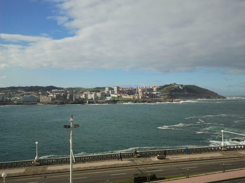 Een Coruña stock afbeelding