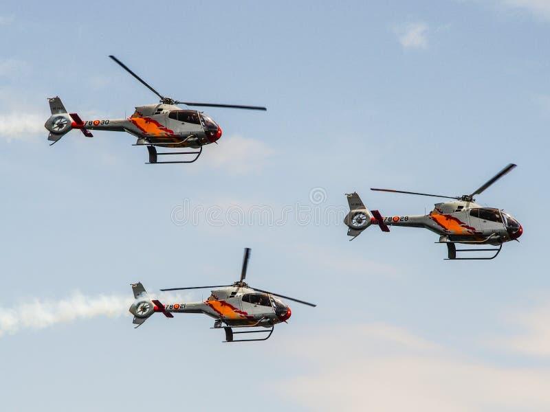 Een Coruna - Spanje - Aerobatic tonen royalty-vrije stock afbeelding