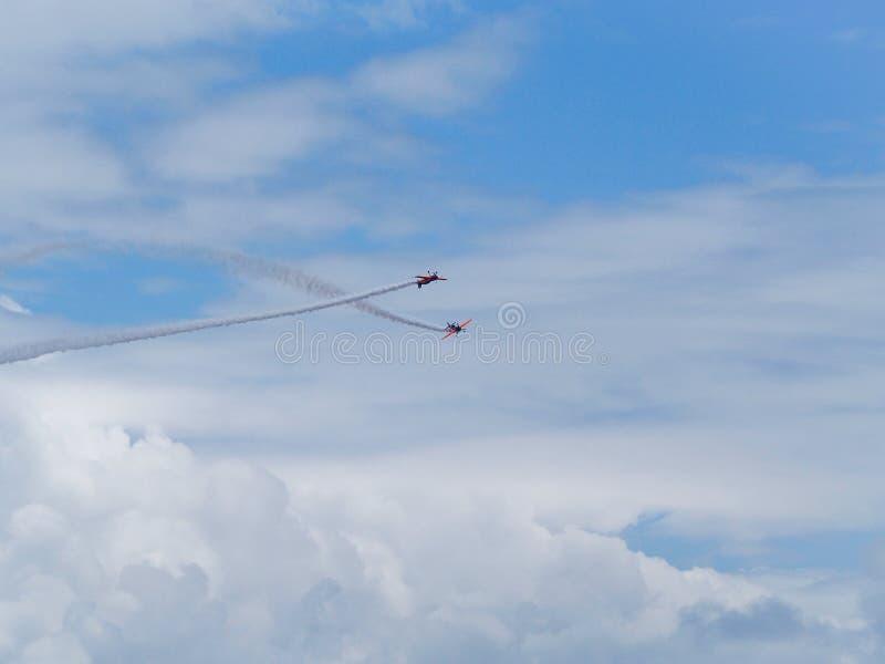Een Coruna - Spanje - Aerobatic tonen stock foto