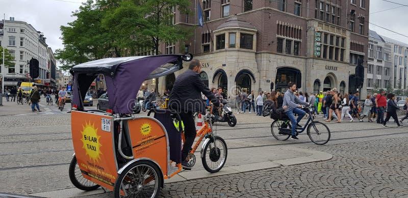 EEN DAG IN AMSTERDAM royalty-vrije stock foto