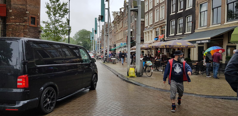 EEN DAG IN AMSTERDAM stock foto's