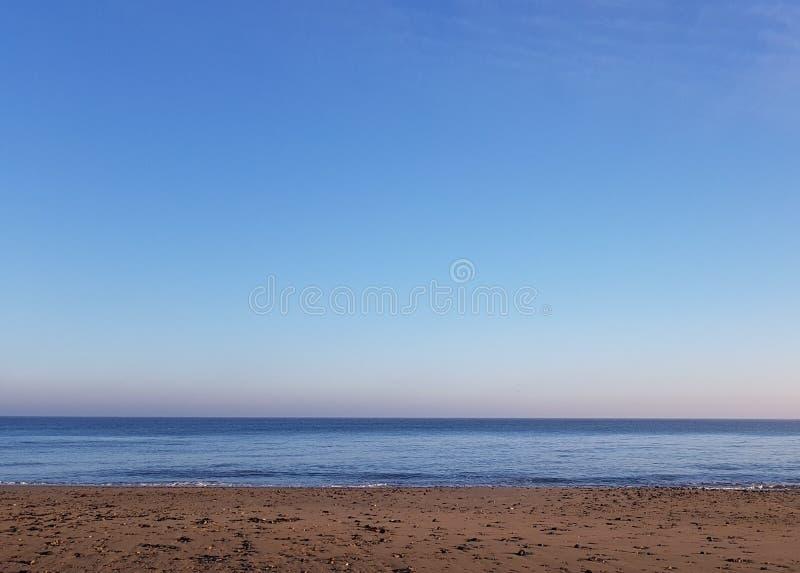 Een Dag bij het Strand in Trimmingham, het UK royalty-vrije stock foto's