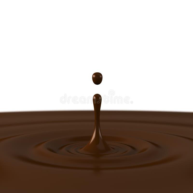 Een daling van chocolade stock illustratie