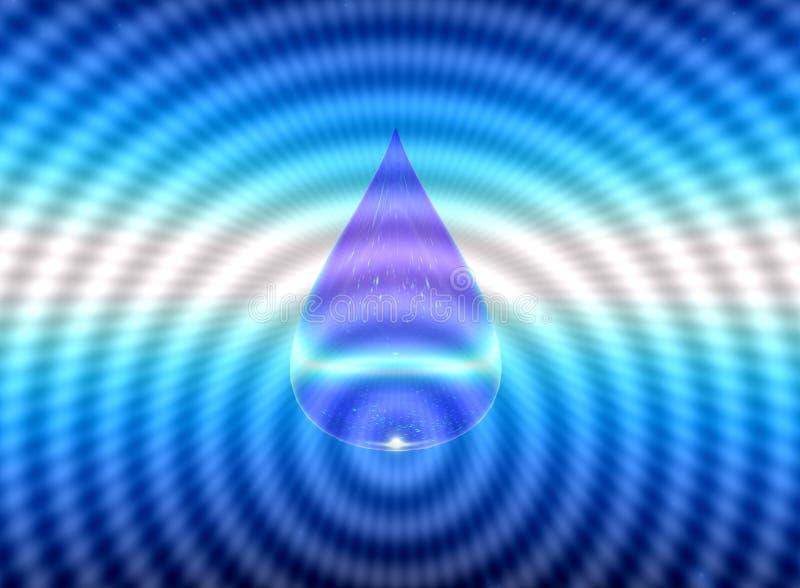 een daling van watersymbool H2O 3D Illustratie stock illustratie