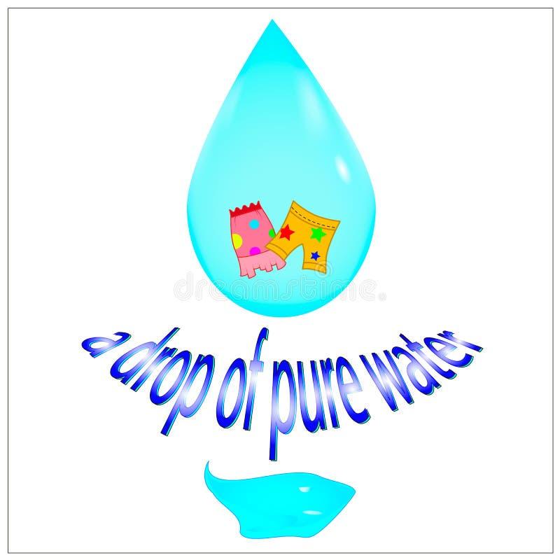 Een daling van zuiver water vector illustratie