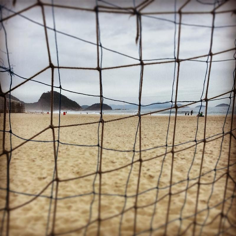 Een de winterdag in Copacaba-Strand royalty-vrije stock fotografie