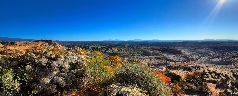 Een de Woestijnpanorama van Wyoming royalty-vrije stock afbeeldingen