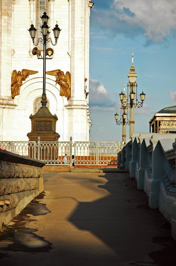 Een deel van Christus de openluchtmening van de Verlosserkathedraal, Moskou, Rusland stock foto's