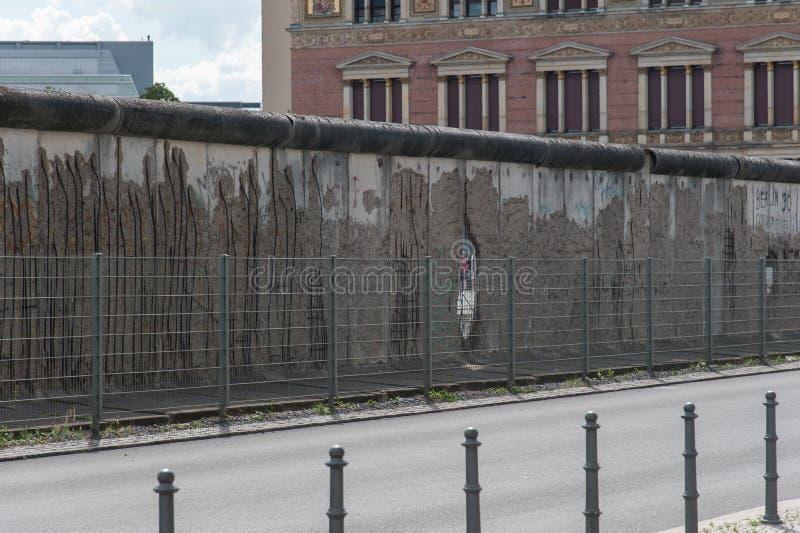 Een deel van de Muur van Berlijn stock fotografie