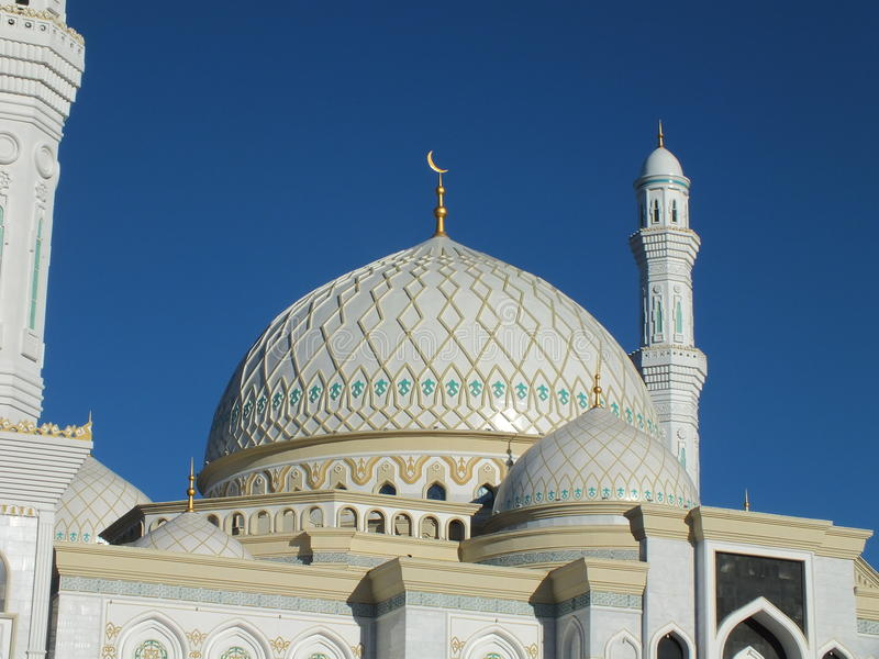 Een deel van de nieuwe moskee in Astana/Kazachstan royalty-vrije stock afbeeldingen