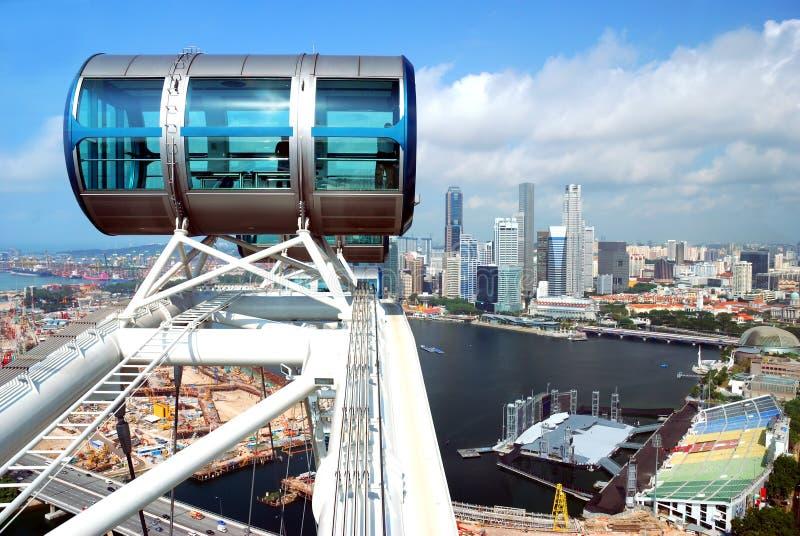 Een deel van de vlieger van Singapore royalty-vrije stock afbeeldingen