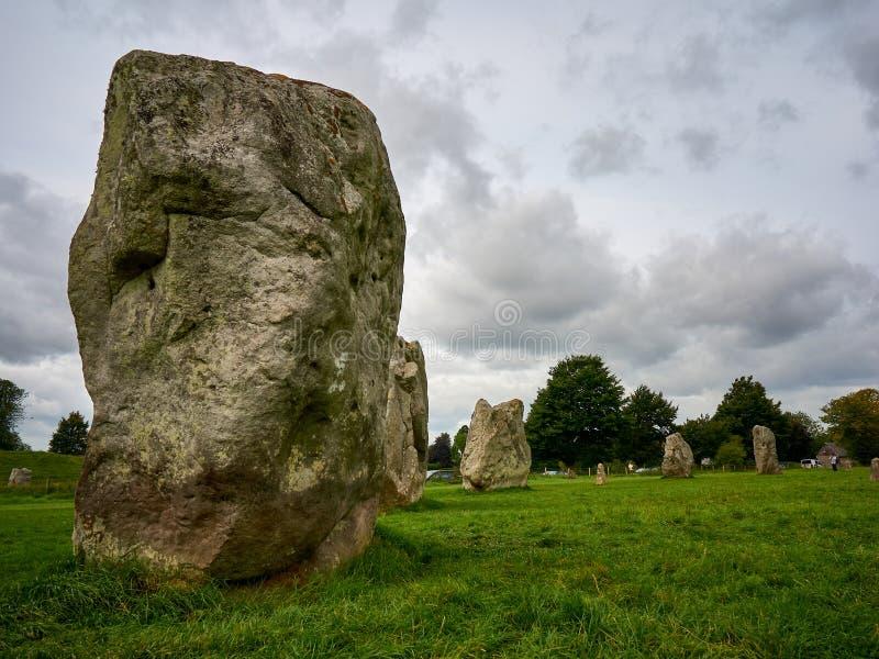 Een deel van de Voorhistorische Steencirkel in Avebury royalty-vrije stock fotografie