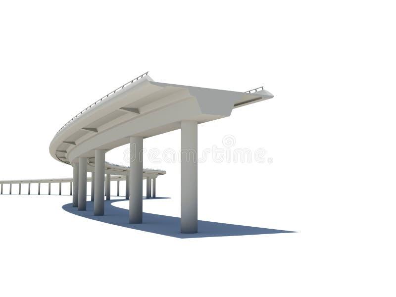 Een deel van de wegbrug vector illustratie