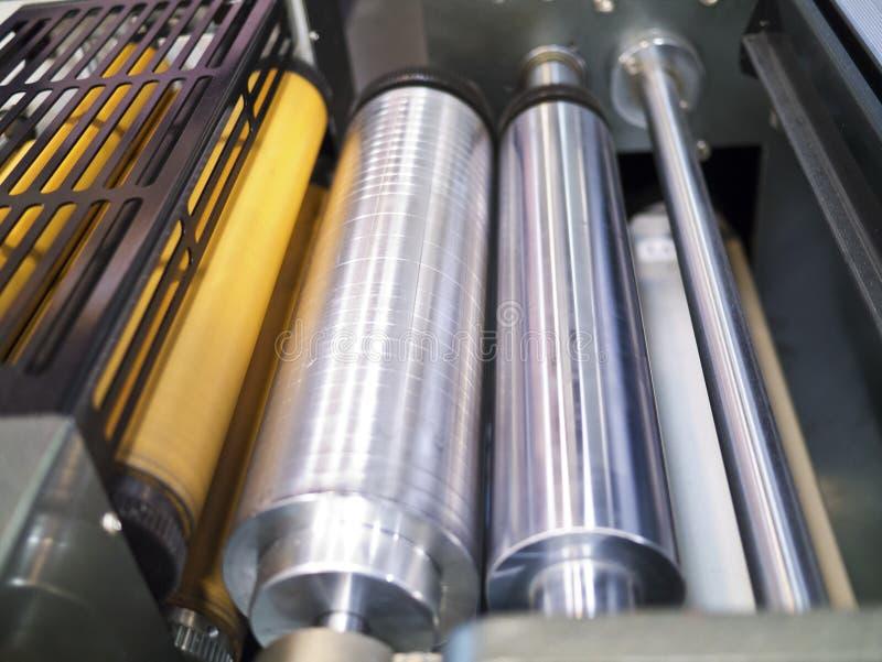 Een deel van drukmachine stock afbeeldingen