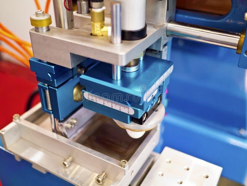 Een deel van drukmachine stock foto's